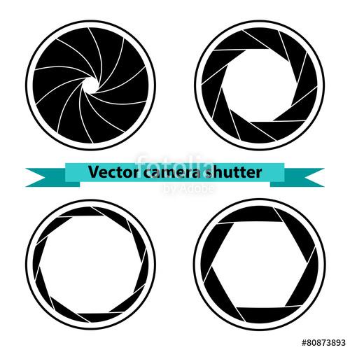 500x500 Black Camera Shutter. Vector Illustration Stock Image And Royalty