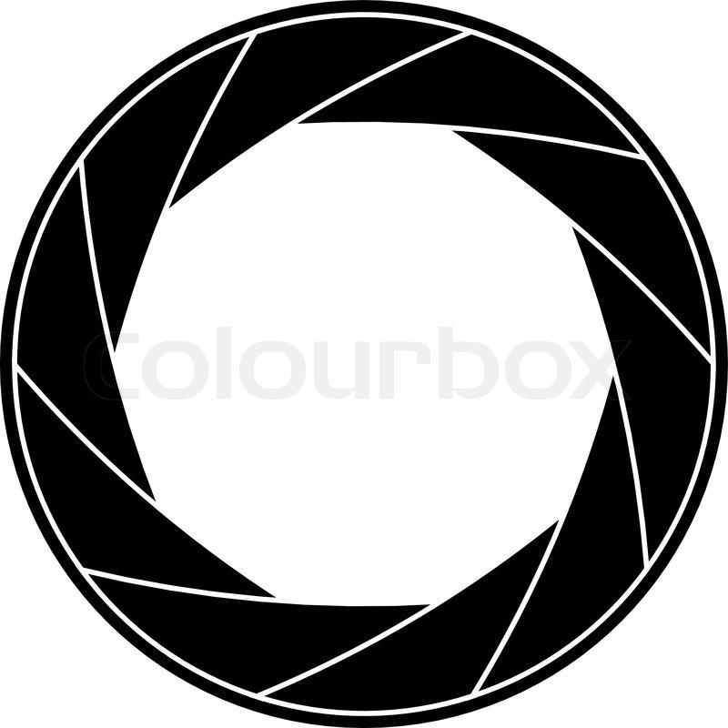 800x800 Black And White Vector Illustration Of Shutter Frame. Stock