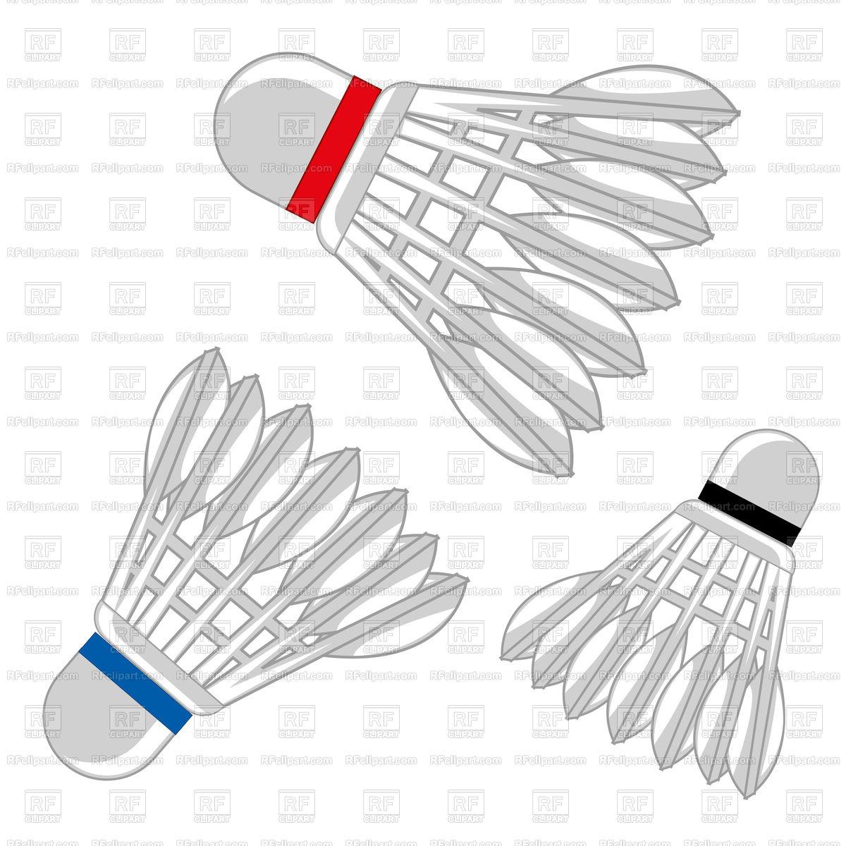 1200x1200 Shuttlecock For Game Of Badminton Illustration Vector Image