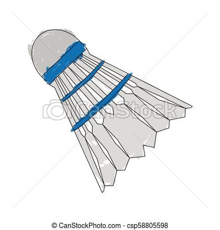 450x470 Sketch Of A Badminton Shuttlecock. Vector Illustration Design.
