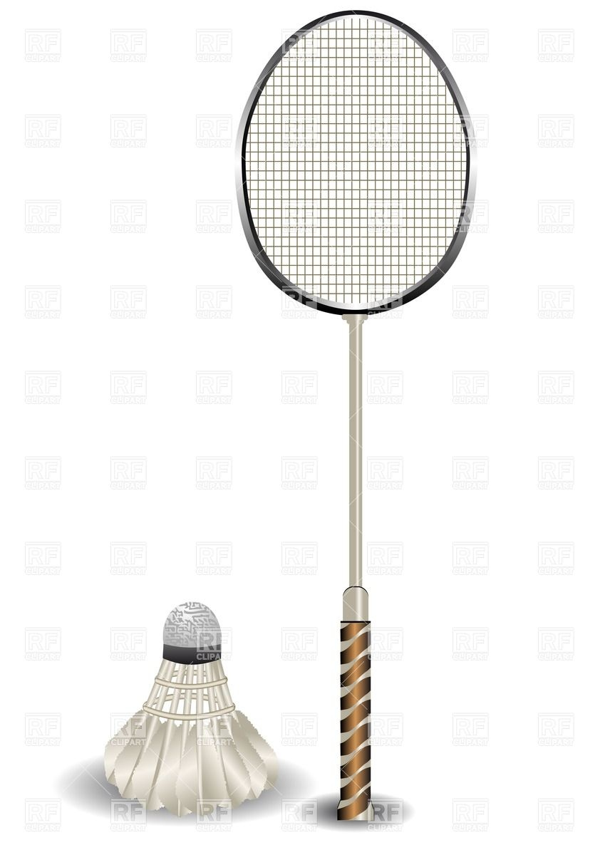 849x1200 Badminton Racket And Shuttlecock Vector Image Vector Artwork Of