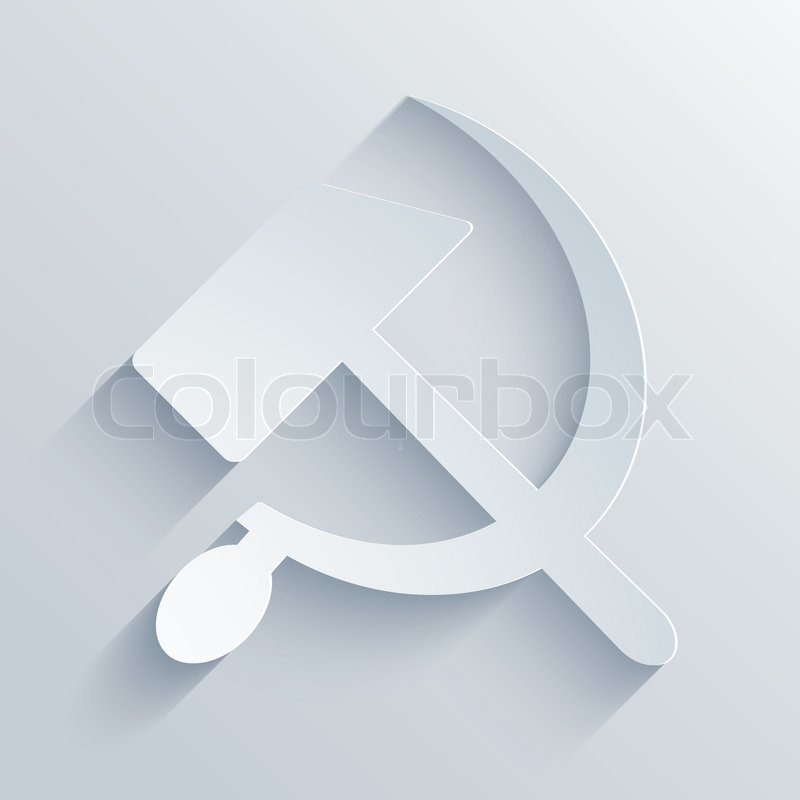800x800 Vector Modern Sickle And Hammer Symbol Background. Eps10 Stock