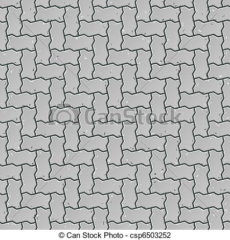 450x470 Seamless Sidewalk Pattern. Vector Illustration Of A Seamless