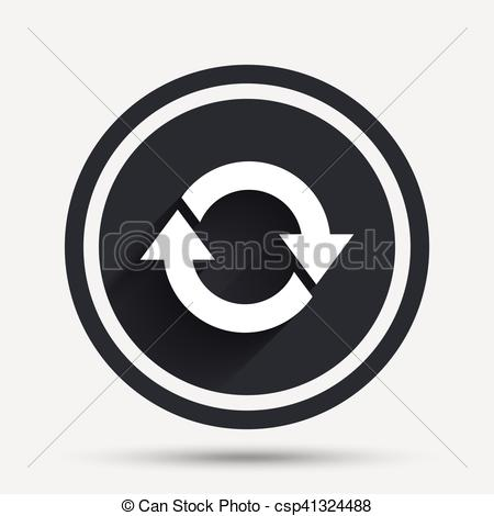 450x470 Rotation Icon. Repeat Symbol. Refresh Sign. Circle Flat Button