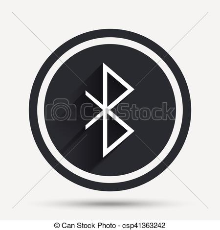 450x470 Bluetooth Sign Icon. Mobile Network Symbol. Data Transfer. Circle