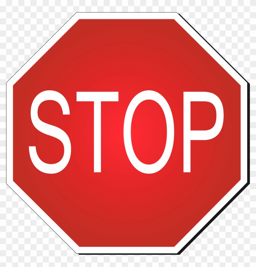 840x875 Road Stop Clipart