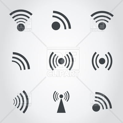 400x400 Set Of Signal Icons Vector Image Vector Artwork Of Signs