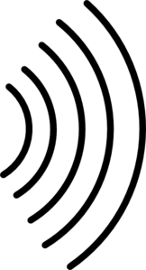 162x299 Signal Wave Black Clip Art