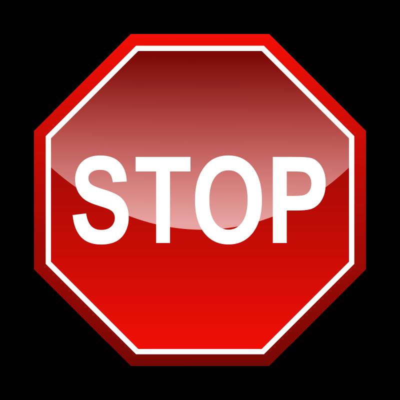 800x800 Stop Signal Free Vector 4vector