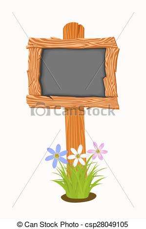 299x470 Wooden Signboard. Wooden School Board With Flowers And Butterflies