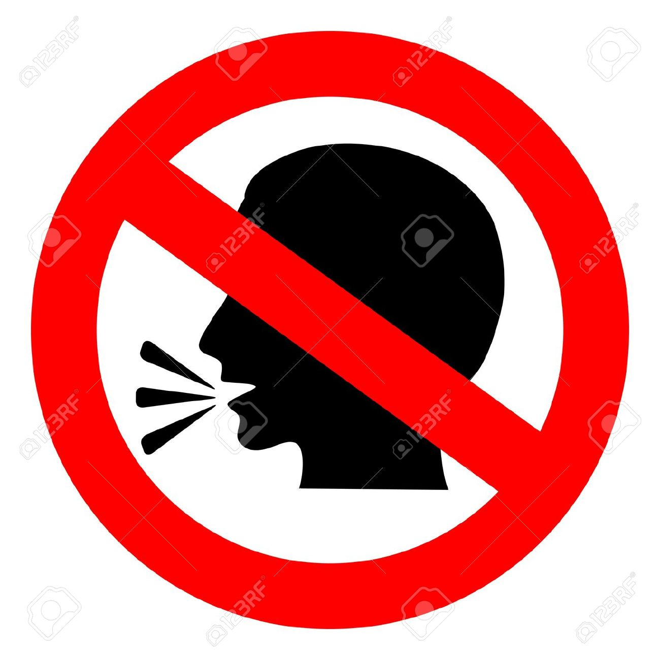1300x1300 14562969 Vector No Talking Sign Silence Bluesyemre