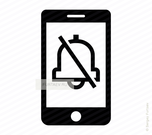 620x553 Phone Silence Vector Icon