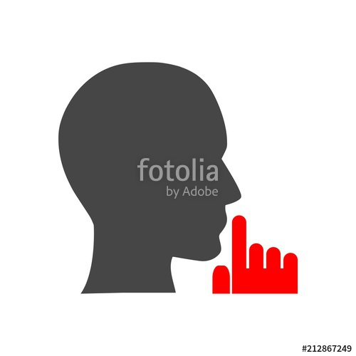 500x500 Silence Icon, Be Quiet Icon Stock Image And Royalty Free Vector