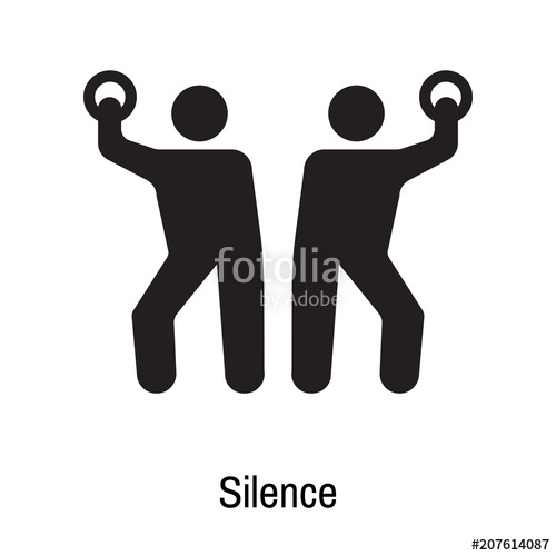 500x500 Silence Icon Vector Sign And Symbol Isolated On White Background