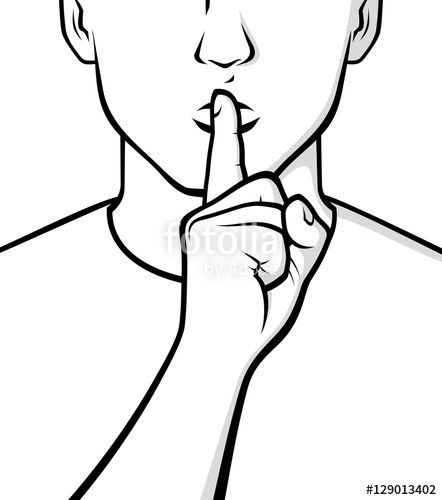 442x500 Silence Please Sign Stock Image And Royalty Free Vector Files On