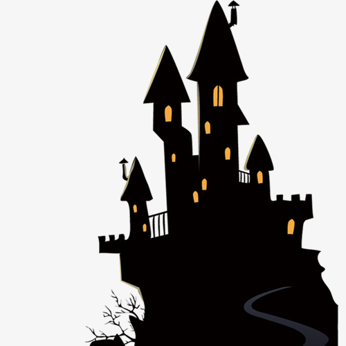 500x500 Black Castle, Vector Castle, Silent Silence, Yellow Light Png And