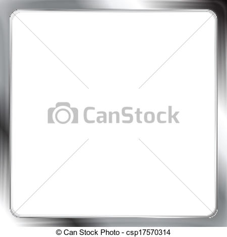 450x470 Abstract Metallic Silver Vector Frame.