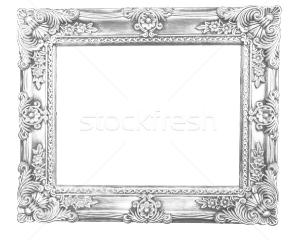 600x486 Retro Revival Old Silver Frame Stock Photo Adam Radosavljevic