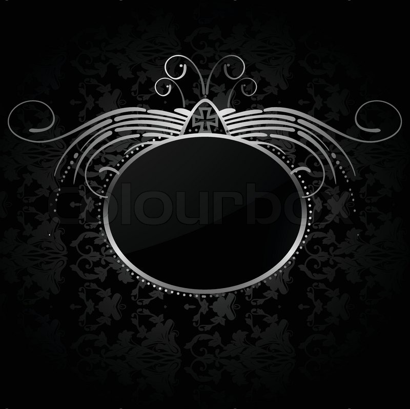 800x798 Royal Background With Silver Frame Vector Stock Vector Colourbox