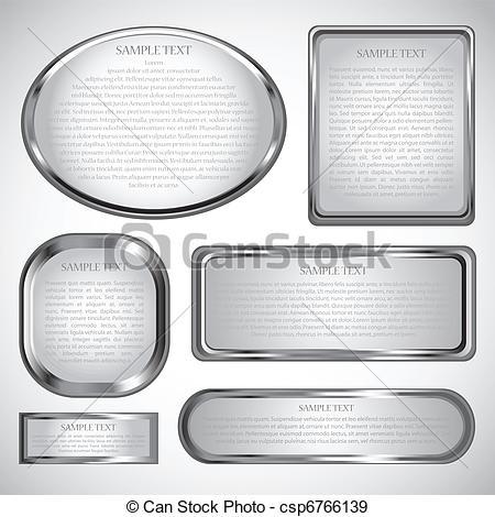 450x470 Silver Frame Border. Silver Chrome Frame Border.