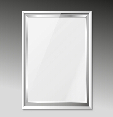 365x378 Silver Photo Frame Vector Material Free Download