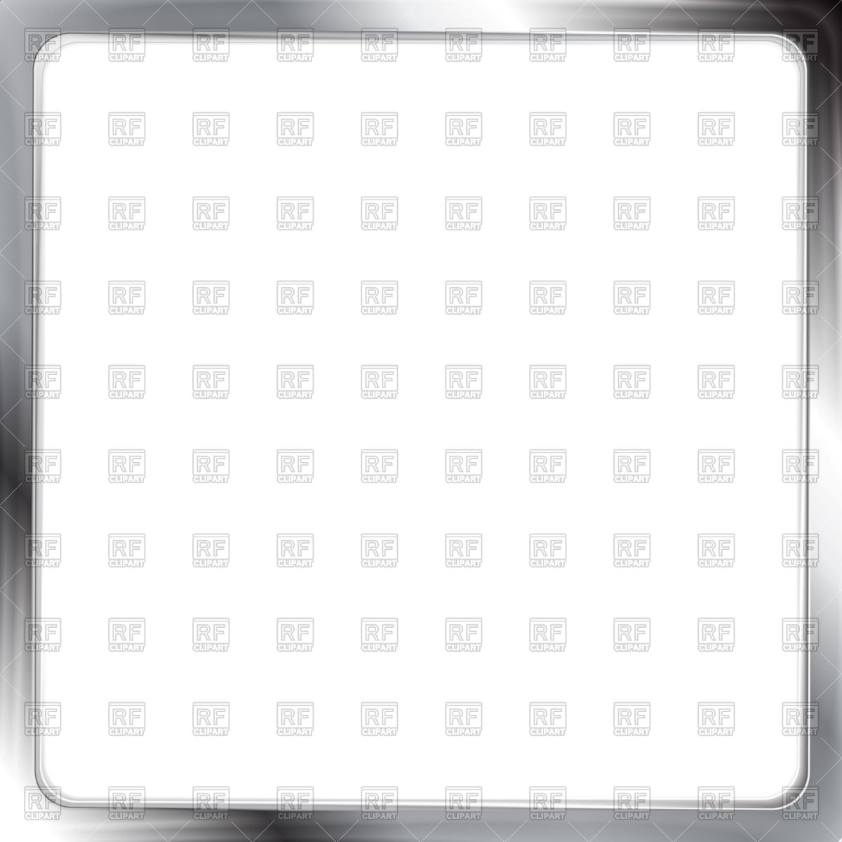 1200x1199 Square Metallic Silver Frame Vector Image Vector Artwork Of