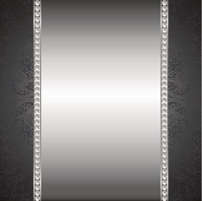 414x413 Perl And Silver Frame Vector Art Illustration Metaliczne