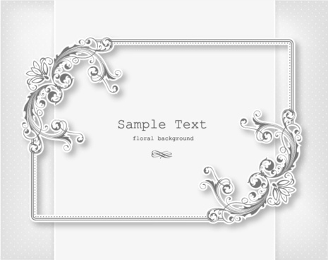 465x368 Floral Frame Cdr Free Vector Download (13,646 Free Vector) For