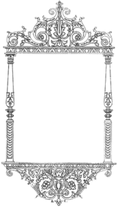 172x300 Frame Filigree Silver Free Images