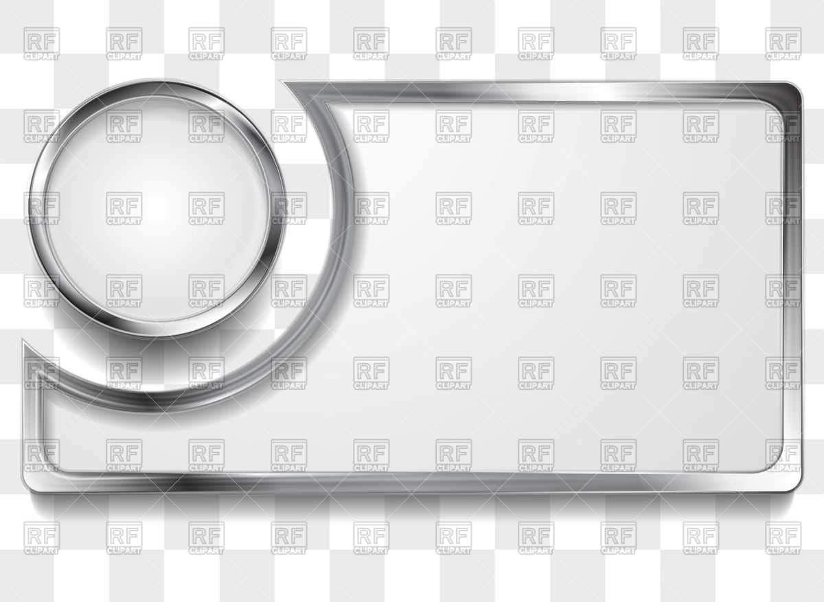 1200x877 Metal Silver Frame And Circle Vector Image Vector Artwork Of