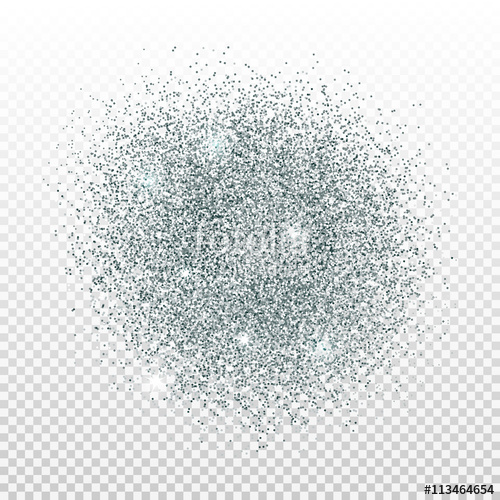 500x500 Silver Dust On Transparent Background. Silver Glitter Background
