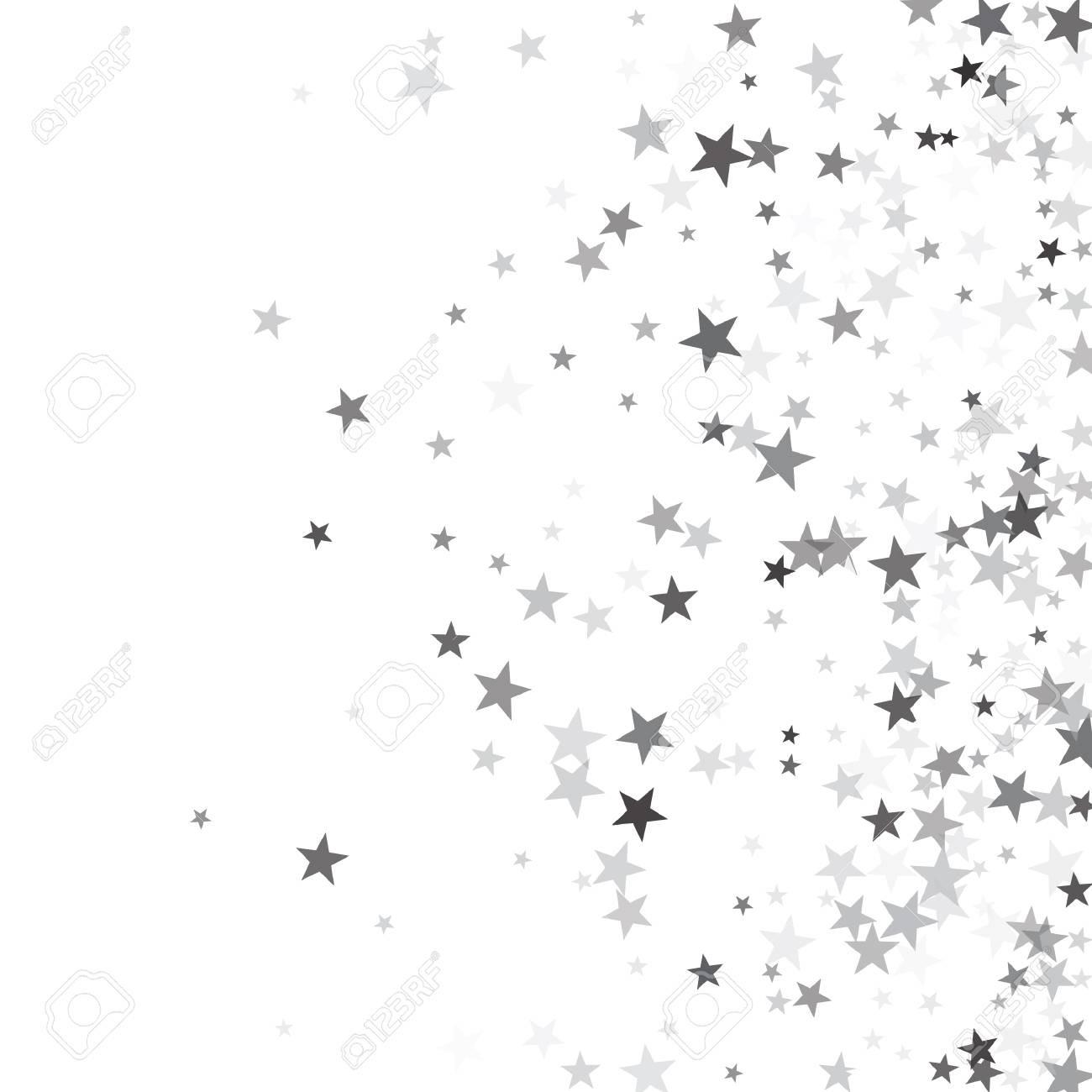 1300x1300 95251304 Luxurious Silver Glitter Falling Stars Vector Template