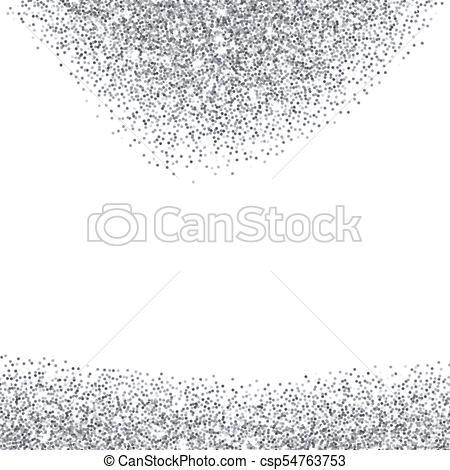 450x470 Silver Glitter Textured Borders. Silver Glitter Texture Borders