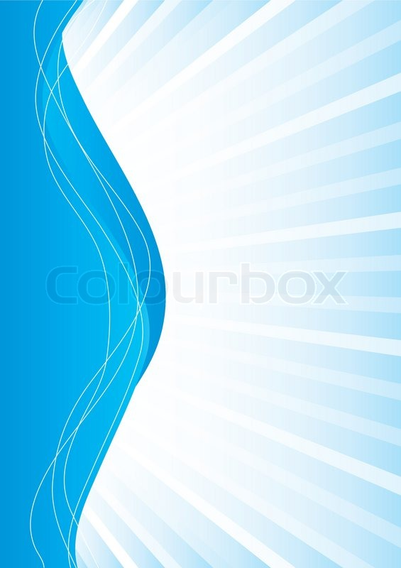 565x800 Simple Abstract Blue Background, Vector Illustration Stock