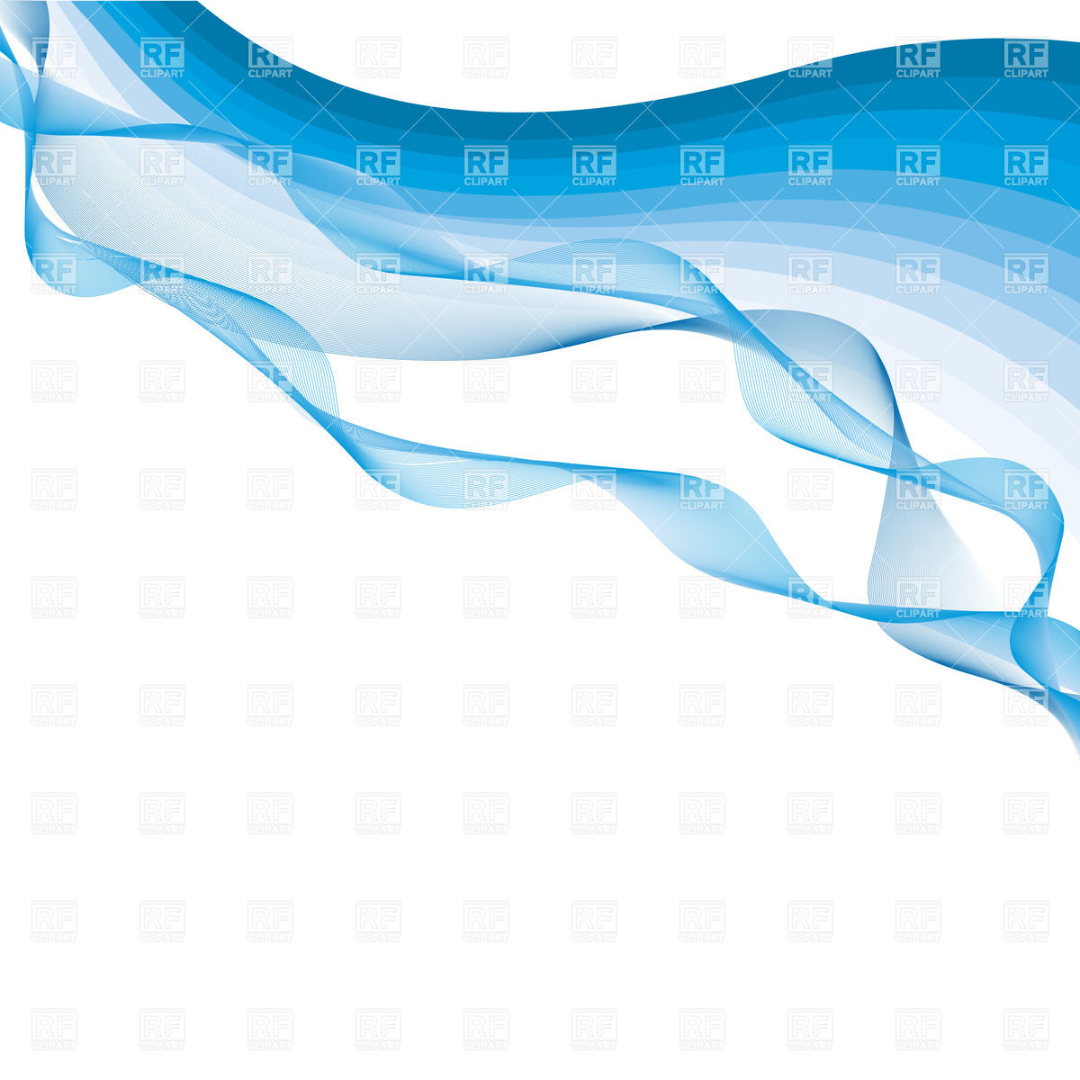 1200x1200 Abstract Background With Simple Blue Waves Vector Image Vector