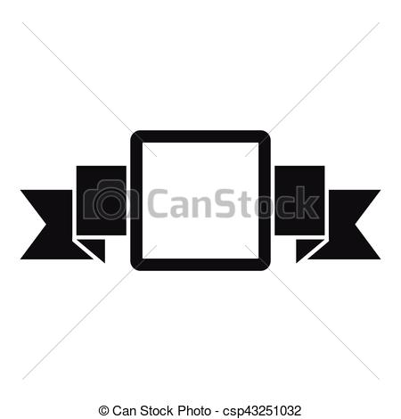 450x470 Small Square Banner Icon, Simple Style. Small Square Banner Icon