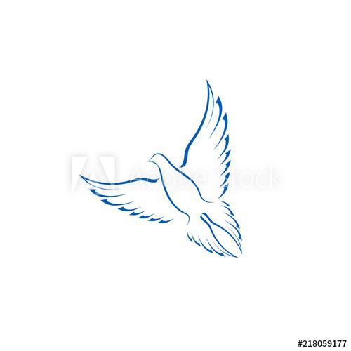 500x500 Simple Bird Icon, Logo Vector Design Element