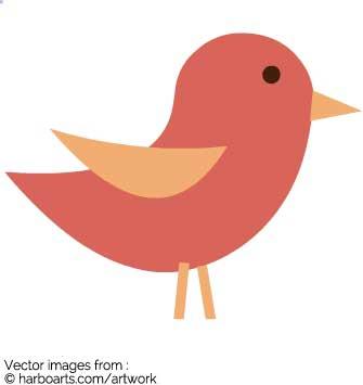 335x355 Download Simple Little Bird Vector Graphic