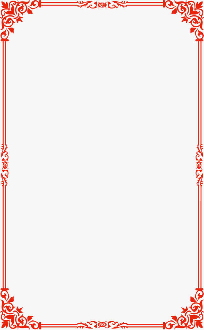 650x1052 Red Simple Border Vector Wireframe, Vector Wireframe, Wireframes