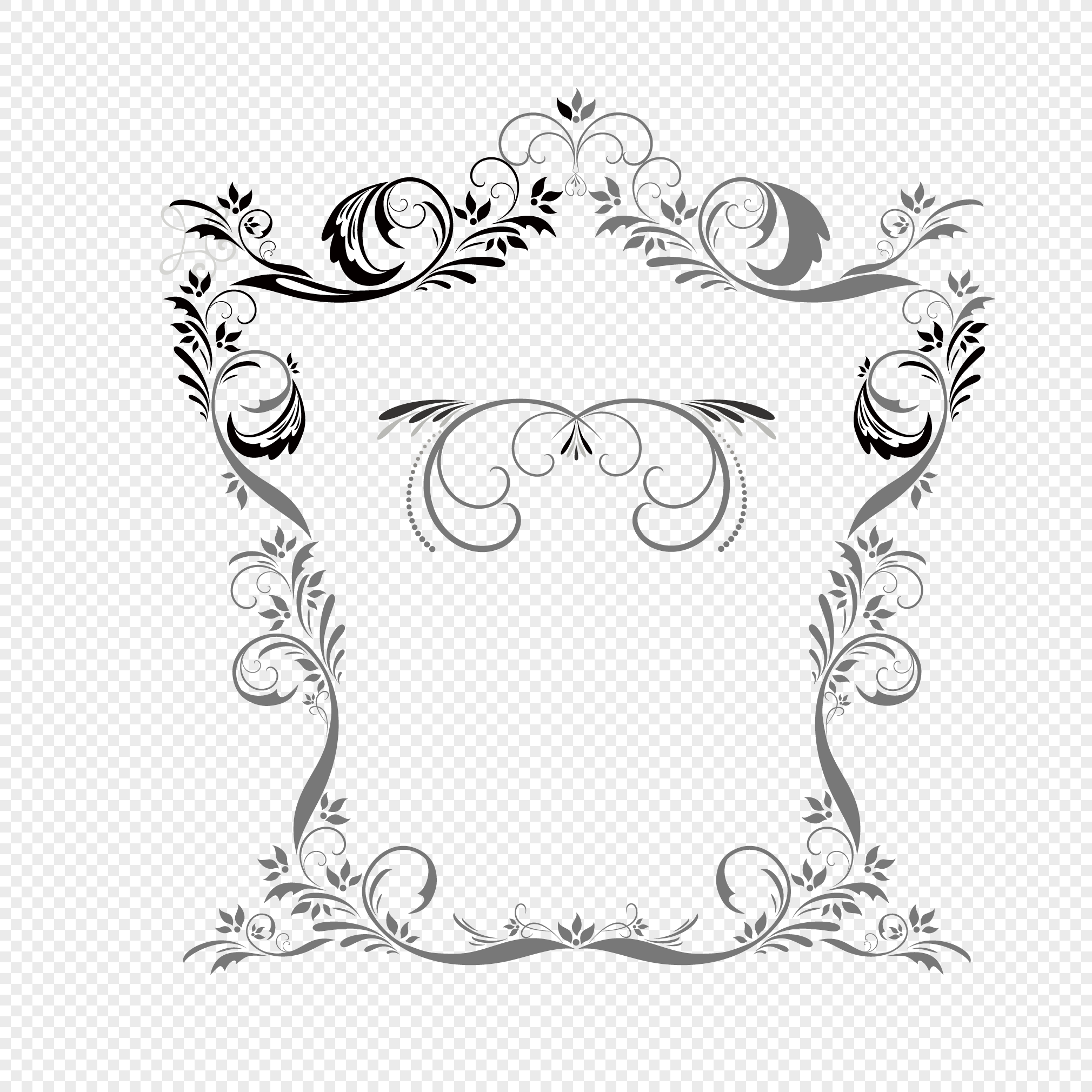 2020x2020 Simple And Fashionable Pattern Border Vector Material Png