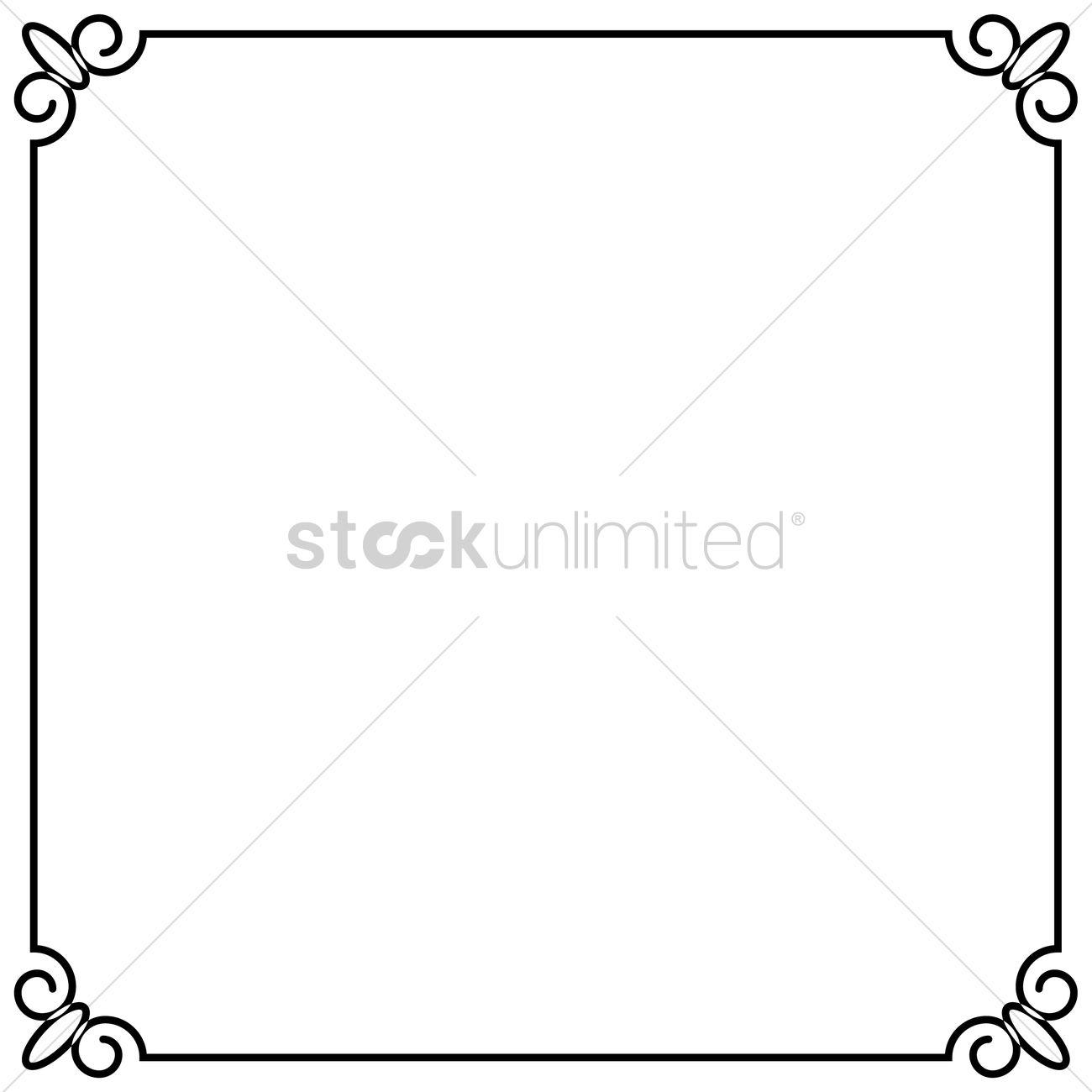 1300x1300 Simple Pattern Frame Border Vector Image