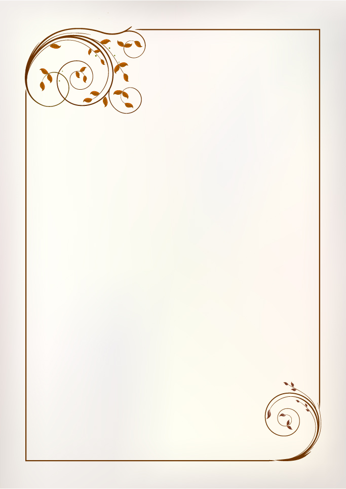 683x965 Simple Ornament Frame Vector Material 01 Free Download