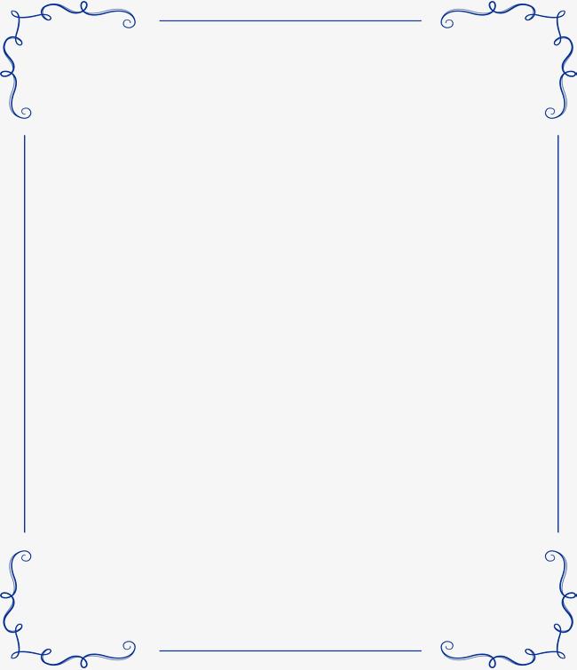 650x755 Blue Simple European Border, Vector Png, Minimalism, European