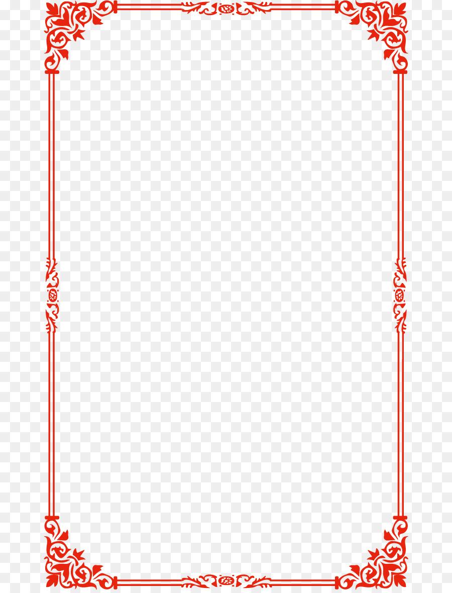 900x1180 Download Lolita Fashion Waist Dress Red Simple Border Vector