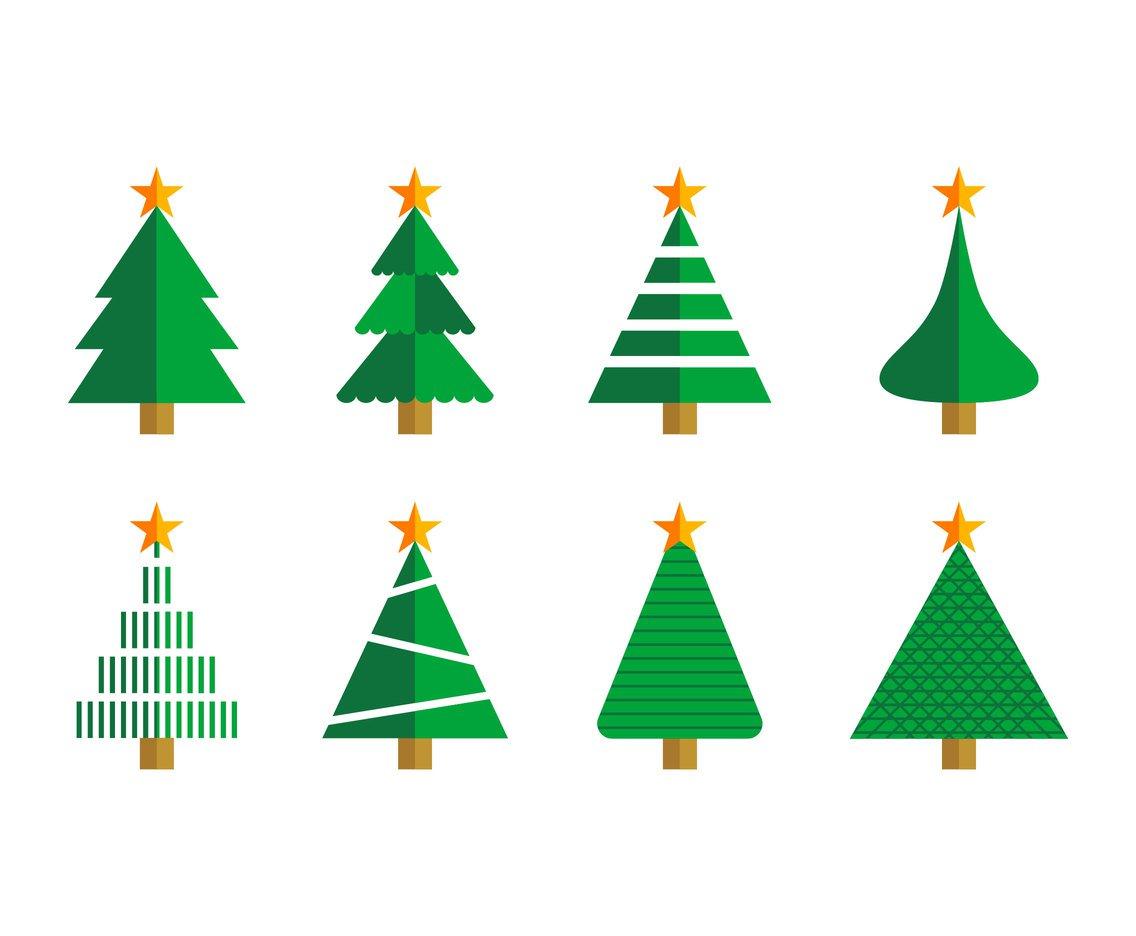 1136x936 Free Cartoon Christmas Tree Vector Vector Art Amp Graphics