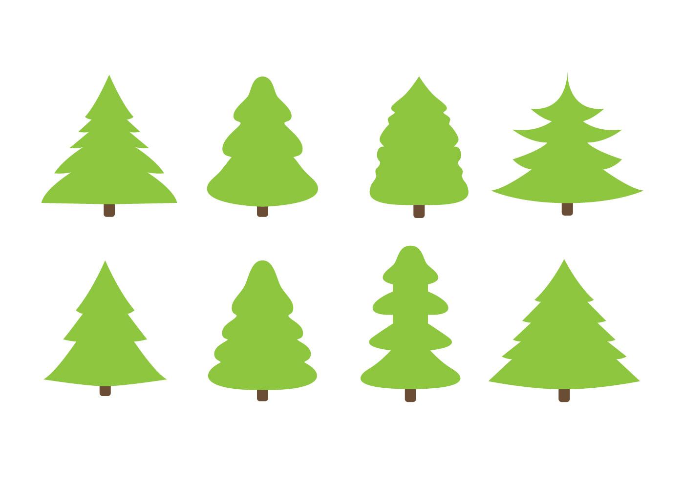 1400x980 Free Christmas Tree Vector Art