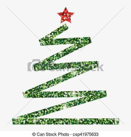 450x470 Glitter Simple Christmas Tree In Vector Format.