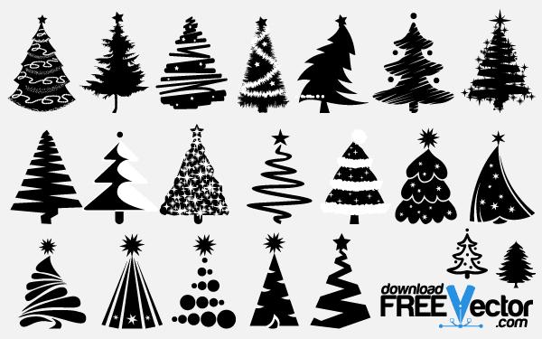 600x375 Christmas Tree Vectors Download Free Vector Art Amp Graphics