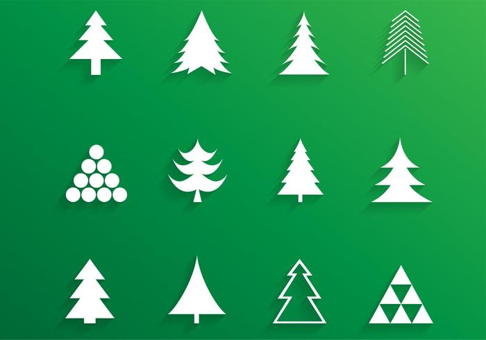700x490 Simple Christmas Tree Vector Pack