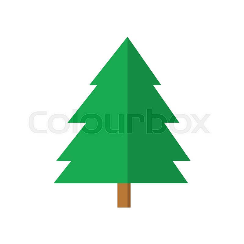 800x800 Simple Spruce Christmas Tree Vector Graphic Illustration Design